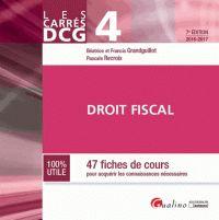 Béatrice Grandguillot et Francis Grandguillot - Droit fiscal DCG 4 - 47 fiches de cours pour acquérir les connaissances nécessaires. - Agrandir l'image