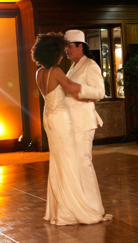 Cindy Blackman and Carlos Santana at their wedding ...