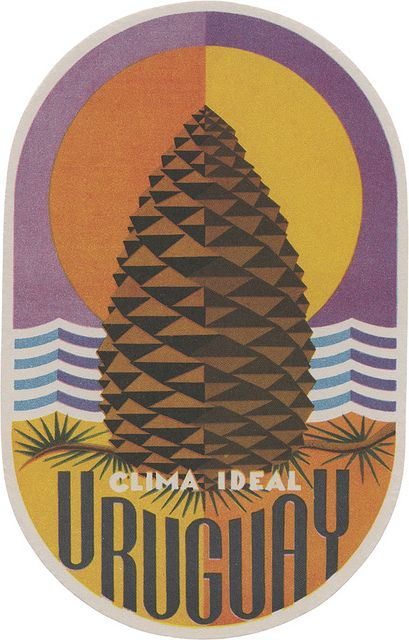 Vintage Luggage Label - Clima Ideal, Uruguay from davidgeorgepearson, via Flickr