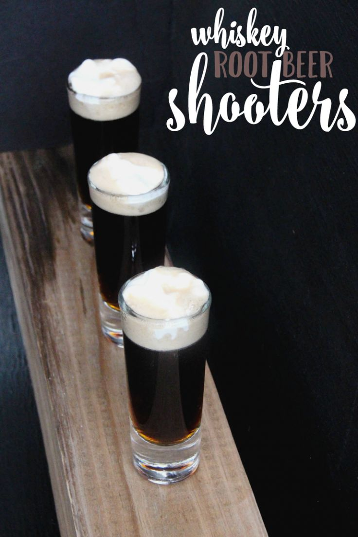 Not Your Father's Root Beer Whiskey Shooters are best enjoyed at a party! Mix…