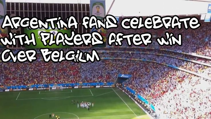 Argentina fans celebrate and sing with players victory over Belgium - The Best Of Football Fans HD