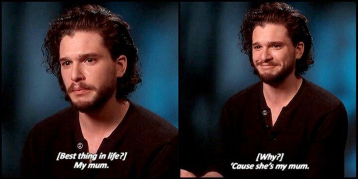 What a sweetie! - Kit Harington