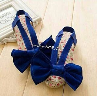 momsneed'shop: Shoes big bow blue