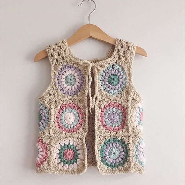 A Little Ray of Crochet, Crochet Toddler Waistcoat Vest