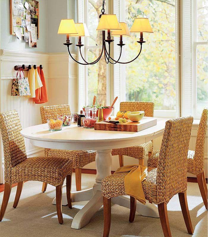 плетеная мебель в интерьере дома