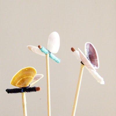 mommo design: SEASHELL CRAFTS - Butterflies
