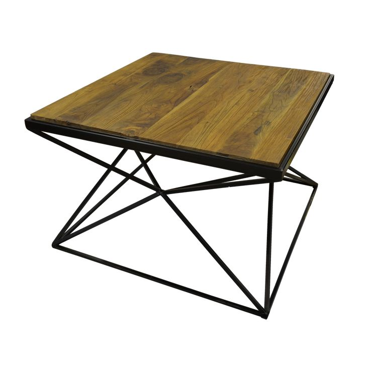 Origami Coffee Table. Table in a creative geometric shaped metal base.