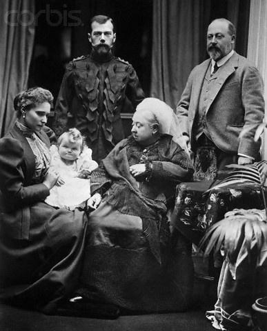 Tsar Nicholas II, Empress Alexandra, Grand Duchess Olga, Queen Victoria, Prince Edward