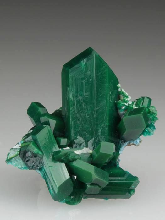 Dioptase - Mindouli District, DR Congo (Zaire)  mw