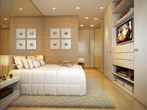 Quarto Casal - Opção painel tv e parede com quadros