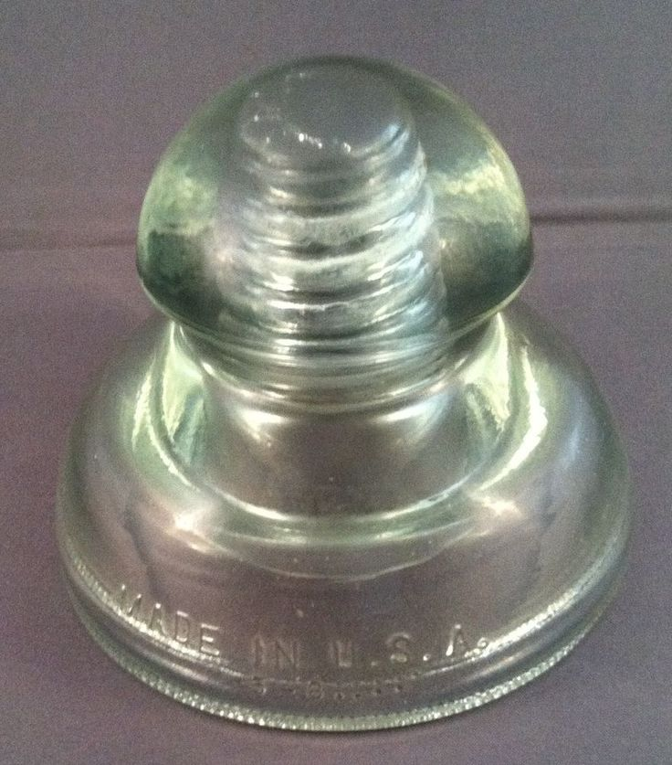 443 best images about glass insulators on pinterest for Glass telephone pole insulators
