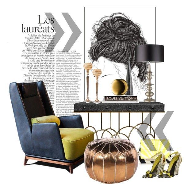 Gianluigi Landoni... by gloriettequartet on Polyvore featuring interior, interiors, interior design, home, home decor, interior decorating, DwellStudio, LSA International, Arteriors and Sergio Rossi