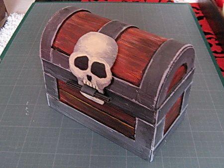 Fabriquer un coffre pirate en carton pirates pinterest pirates et rencontr - Coffre chasse au tresor ...
