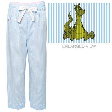 Goofy Dragon Seersucker Pajama Pants