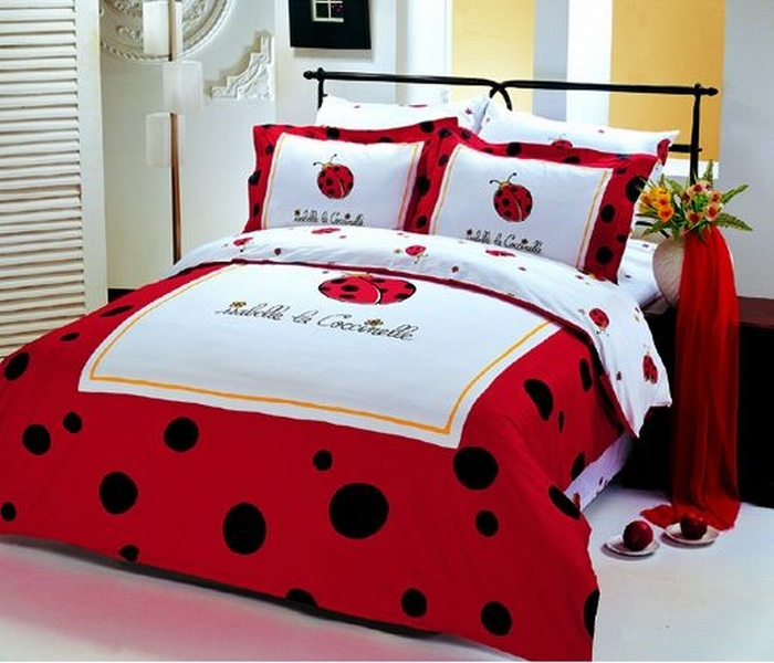 Red And Black Bed In A Bag Twin Persona