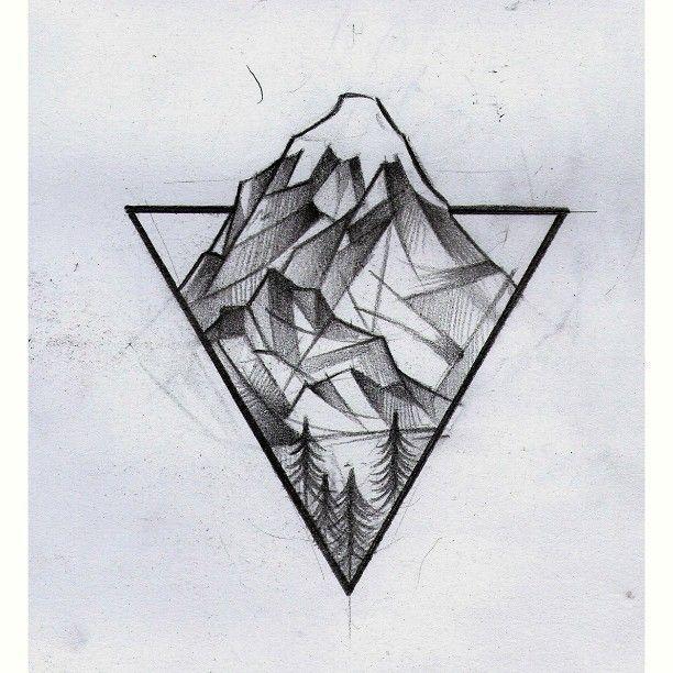 """Tatto Concepts 2017 – Santiago Ambrosio on Instagram: """"⏫ #draw #dibujo #tattoodesign #sketch #sketchtattoo #Lanin #mountain #Mountaintattoo #santiagoelefante"""""""