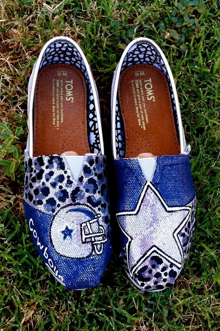 Glitter Dallas Cowboy TOMS. $120.00, via Etsy.
