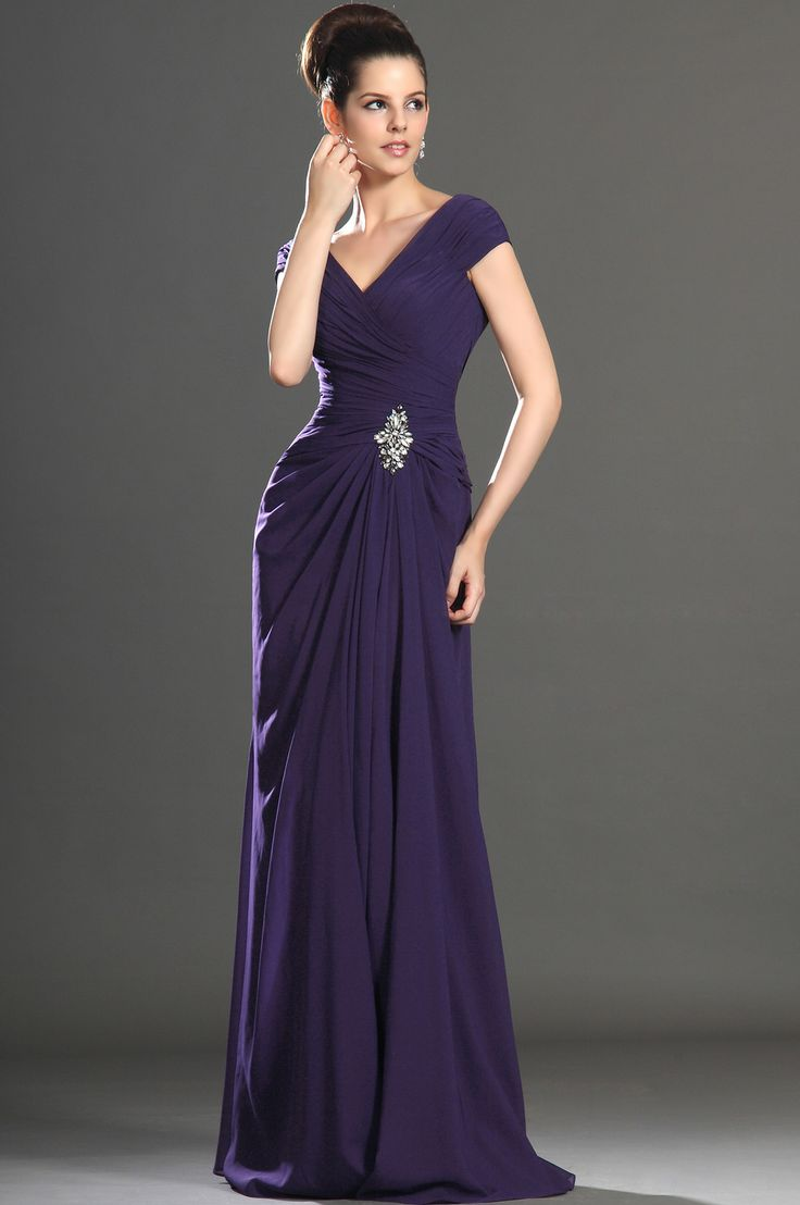 eDressit 2013 New Sexy V-neck Purple Mother of the Bride Dress (26132706)