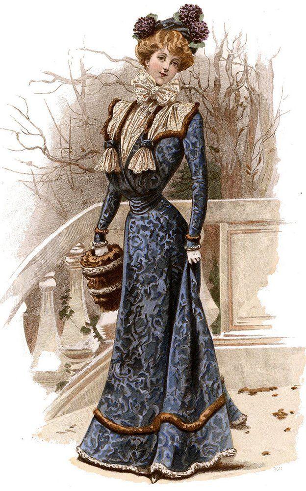 мода на старых открытках