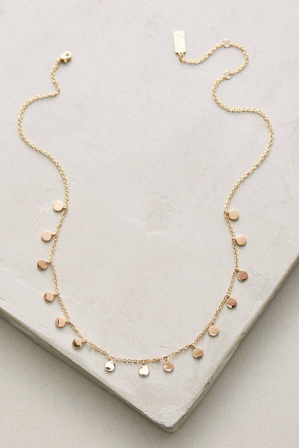 Melanie Auld Delicate Discs Choker Necklace