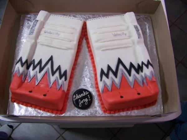 Yay! Vaughn cake! #vaughn #goalie #cake #legpads #hockey by http://pinterest.com/slightlyinsane_/