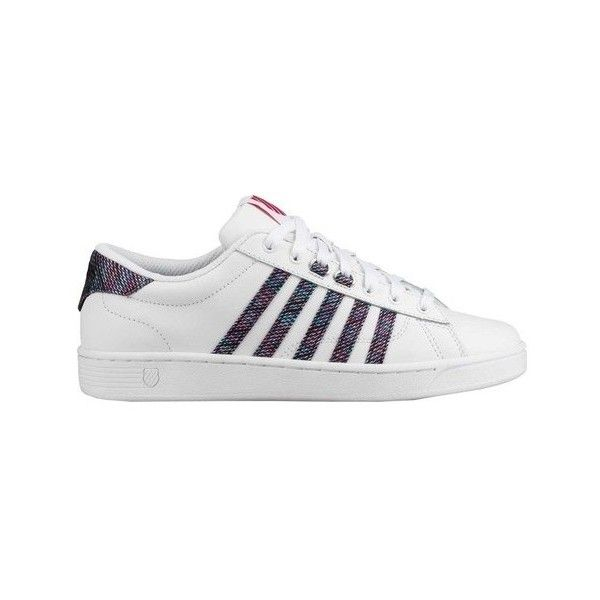 Women's K-Swiss Hoke CMF Sneaker ($56) ❤ liked on Polyvore featuring shoes, sneakers, athletic, tennis trainer, leather sneakers, leather tennis shoes, lace up sneakers and sports trainer