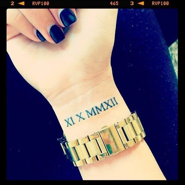Best 25+ Number Tattoo Fonts Ideas On Pinterest