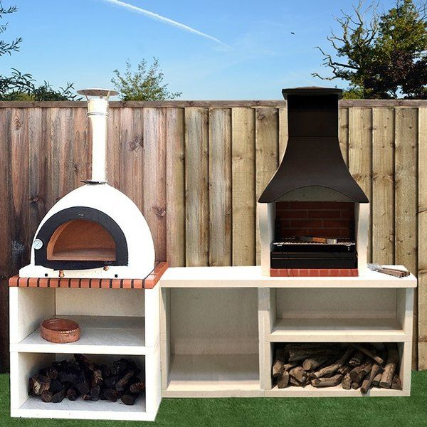 Napoli Outdoor Kitchen Combo Bbq And Wood Fired Pizza Oven Horno De Lena Asadores De Patio Horno De Pizza Al Aire Libre
