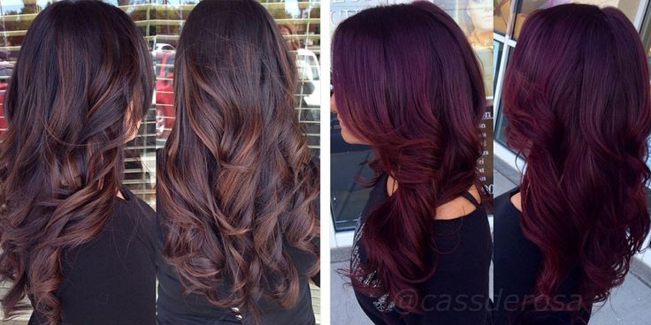 Dark Plum Hair Color - Best Color Hair for Hazel Eyes Check more at http://frenzyhairstudio.com/dark-plum-hair-color/