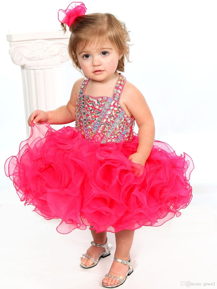 2017 Glitz Pageant Dresses for Toddler Halter Sweetheart Baby Cupcake Pageant Dress Unique Fashion Ruffled Tulle Fuchsia Girls Prom Gown Infant Pageant Dresses Little Girls Pageant Dresses Baby Pageant Dresses Online with $124.58/Piece on Grace2's Store | DHgate.com