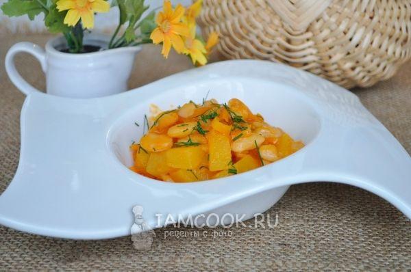 Белая фасоль с овощами на гарнир