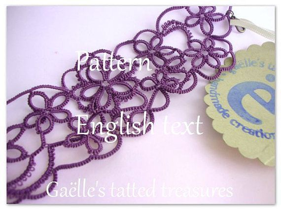 Pattern tutorial tatting for Gaëlle's by gaestattedtreasures
