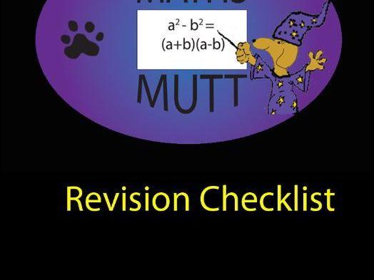 SQA Higher Revision Checklist