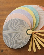 Colorful Japanese fans 中川政七商店 いろまる団扇