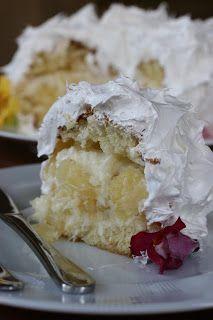 Com uma pitada de açúcar...: Torta de Abacaxi com Coco