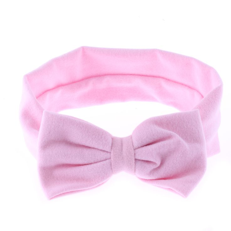1PC 2017 Kawaii Girls Kids Baby Soft Cotton Bow Hairband Headband Stretch Turban Knot Head Wrap Hair Band Accessories