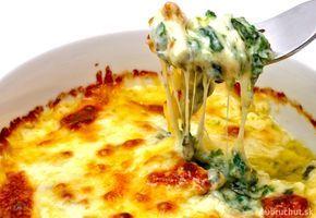 Kuracie mäso zapečené so špenátom a syrom