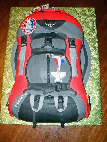 Eagle Scout backpack groom's cake.