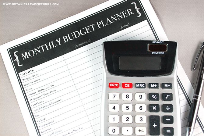 家賃、保険、駐車場、そんなに多くのような経費を追跡するために、この無料印刷予算プランナーを使用してください。