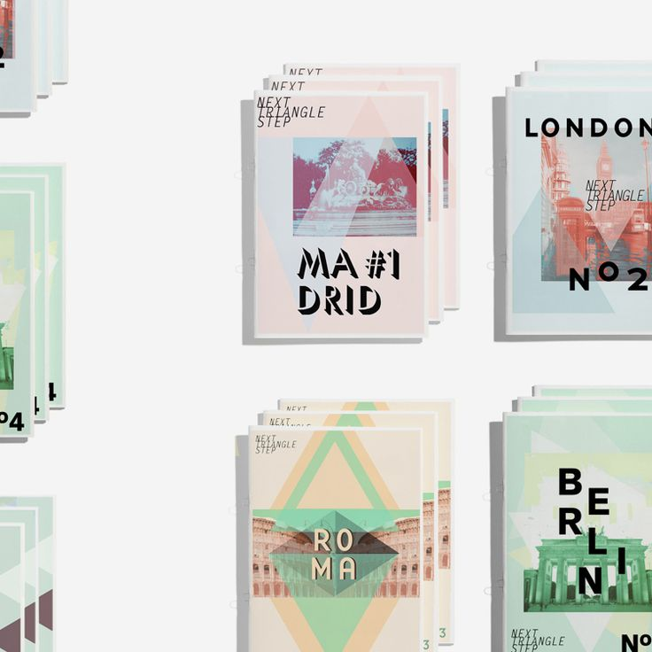 Travel guide designs by Sonia Castillo