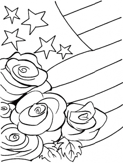 A Floral Tribute To Veterans Coloring Page