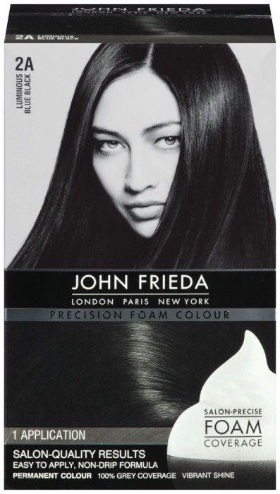 blue black hair dye foam | John Frieda Hair Color Precision Foam Luminous Blue Black