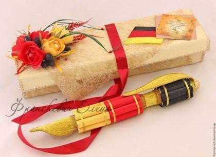 Купить Букет из конфет. Перо-ручка. - комбинированный, новокузнецк, букет из конфет на заказ, подарок сладкоежке