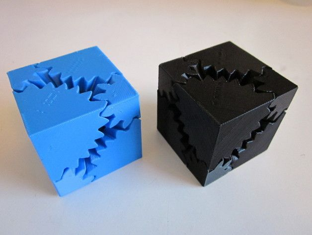 Screwless Cube Gears by emmett Thingiverse 3D printing