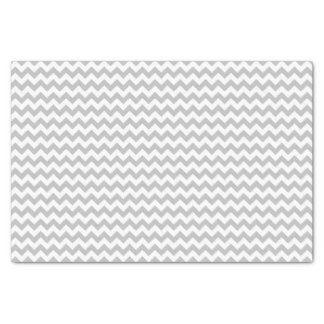Coutume grise et blanche de motif de chevron papier mousseline