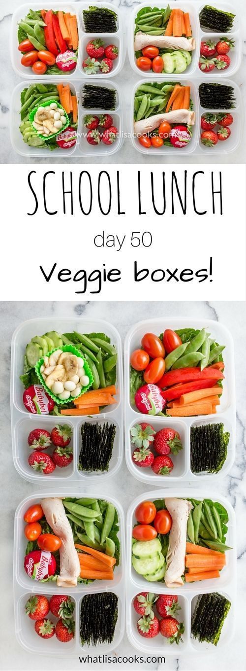 A bright and fresh school lunch box full of veggies - from http://WhatLisaCooks.com