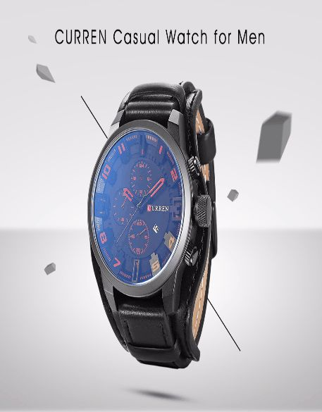 CURREN 8225 Casual Quartz Watch with Hollow-out Pointer for Men USD $ 11.60 - With protective leather cover, it can protect the back cover nicely  - Stereo numeral scale with four hollow-out number, abundant art breath - Decorative sub-dial design can enrich the dial contents - Hollow-out pointer will increase lively atmosphere  - Pin buckle easily adjusts the length of the strap, satisfy your needs  - Date display window in the 4 o'clock direction shows its uniqueness - An ideal gift for a…