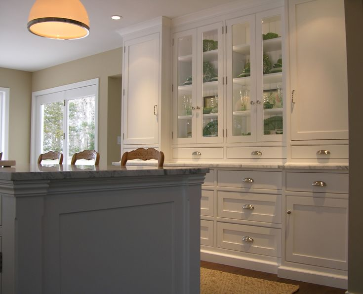 Beaded face frame kitchen with flat panel inset doors