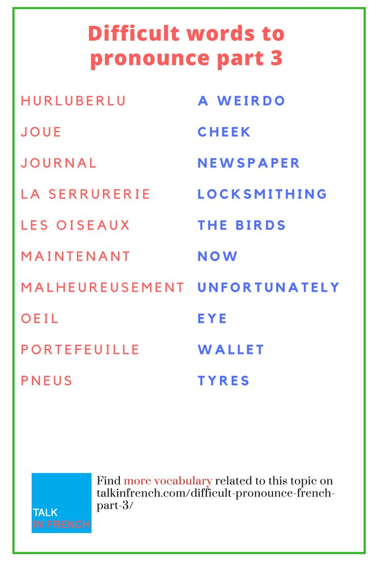 183 Best French Vocabulary List Images On Pinterest