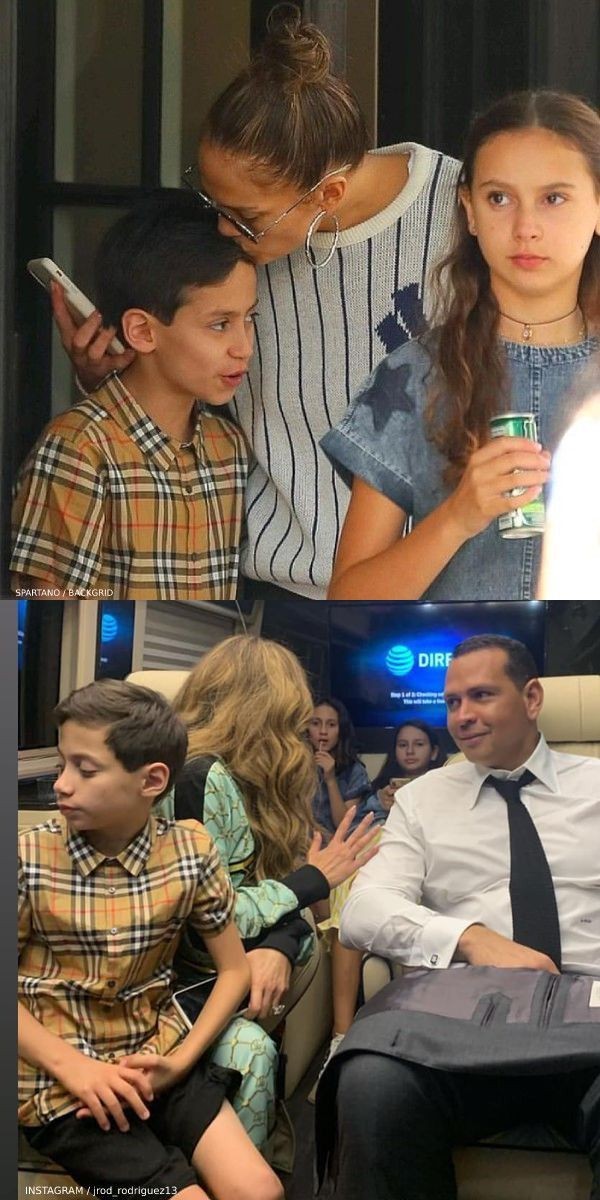 Jennifer Lopez S Son Max Burberry Boys Fred Beige Vintage Check